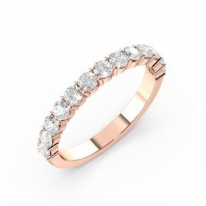 Prong Setting Round Half Eternity Diamond Ring