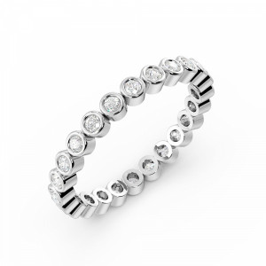 Full Bezel Setting Round Full Eternity Diamond Ring (Available in 2.5mm to 3.5mm)