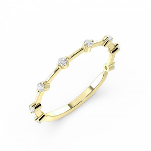 Prong Setting Round Shape Full Eternity White, Yellow & Rose Gold Eternity Ring (1.4Mm)
