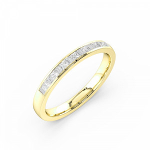 Channel Setting Classic Half Diamond Eternity Ring  (2.50mm & 3.00mm)