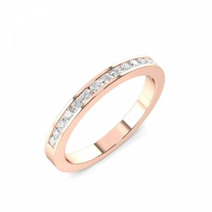 2.5mm to 4.0mm - Half Eternity Channel Setting Round Cut Diamond Ring