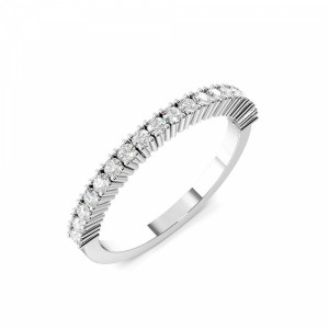 2.0mm to 3.5mm - Half Eternity 4 Prong Setting Round Diamond Ring