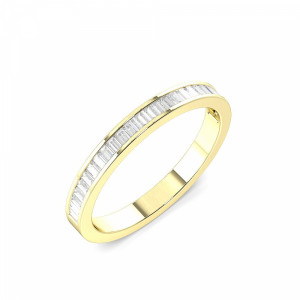 2.5mm to 3.5mm - Half Eternity Channel Setting Baguette Diamond Ring