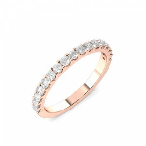 2.0mm to 3.0mm - Half Eternity 4 Prong Setting Round Diamond Ring