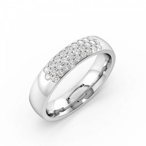 Pave Setting Round Shape Cluster Diamond Ring (4.50mm)