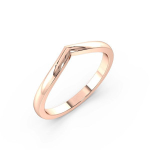 Plain V Shape Wishbone Wedding Ring (2.00mm)