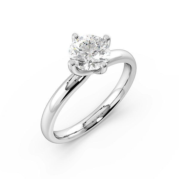 Round Cut Twist Claws Solitaire Diamond Engagement Ring