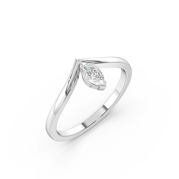 Marquise Stylish Minimalist Solitaire Engagement Rings