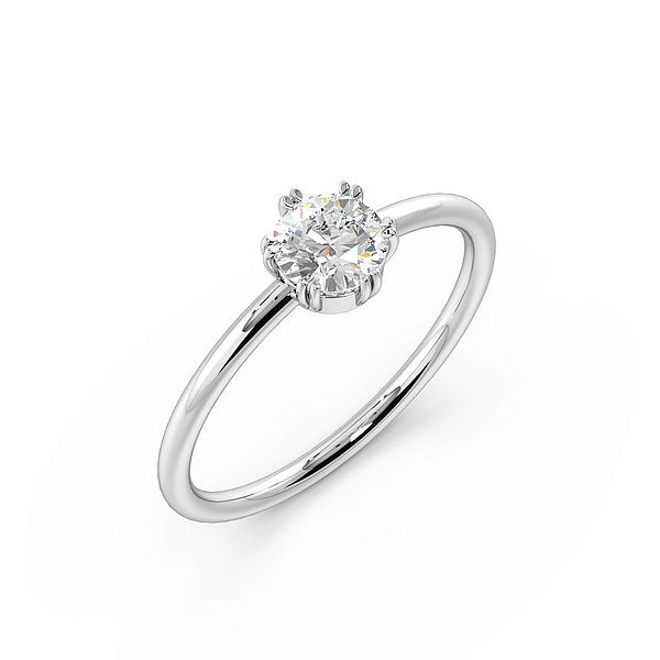 6 Claws Double Claw Delicate Solitaire Diamond Engagement Ring